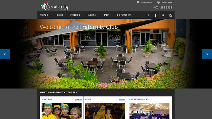 The Fraternity Club homepage