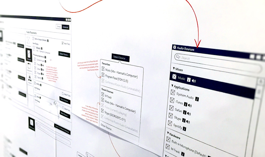 In the end, we provided Audinate with over 100 distinct wireframes, iterating on them in collaboration with their development team to address problems they uncovered