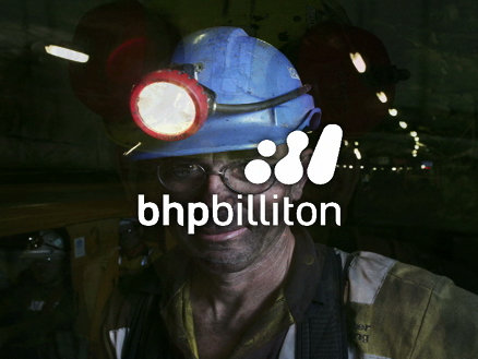 A still image from the Illawarra Coal induction video showing miners with BHP Billiton logo superimposed