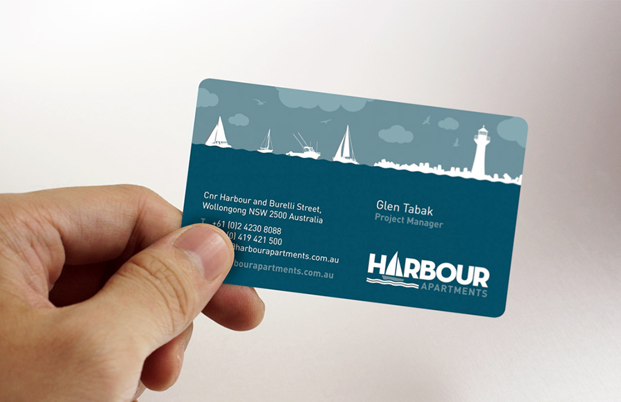 The Harbour Apartments business cards