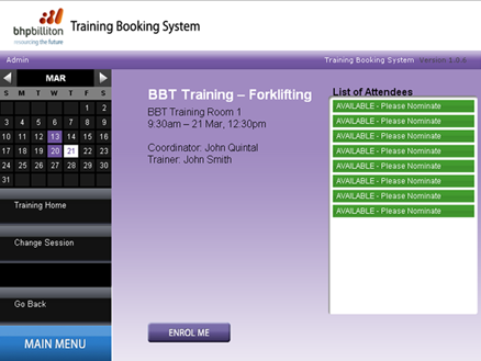 The Training Booking System allows employees to enrol in their own training sessions and download course material in advance. It automatically coordinates supervisor approvals and notifies the various training providers of the final attendee list.