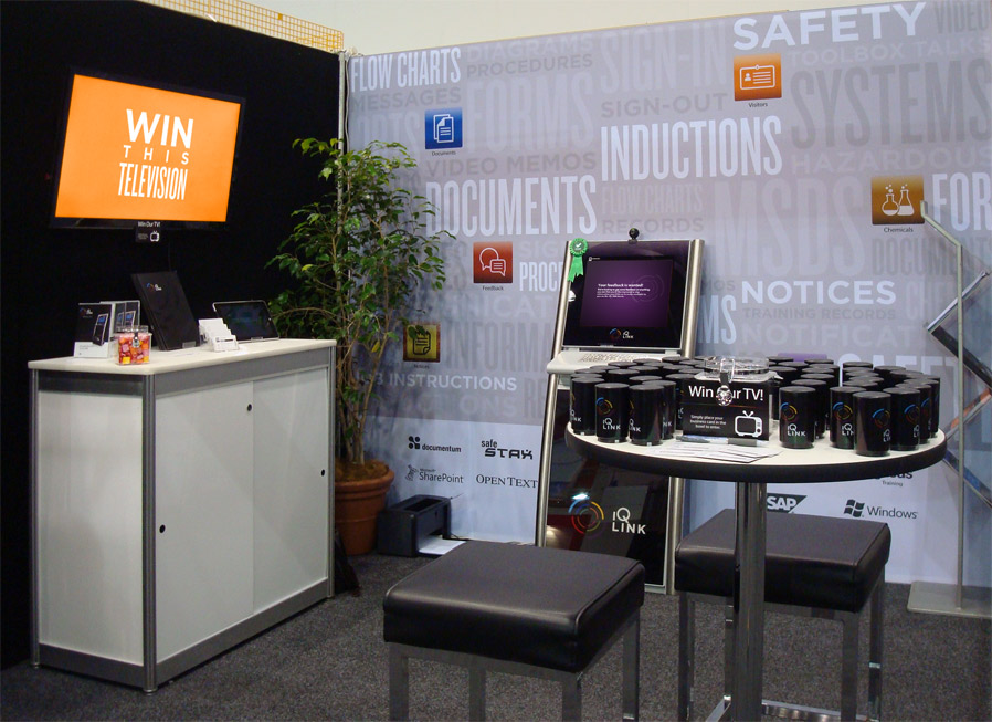 The IQ LINK conference booth at a Perth oil and gas HSE conference