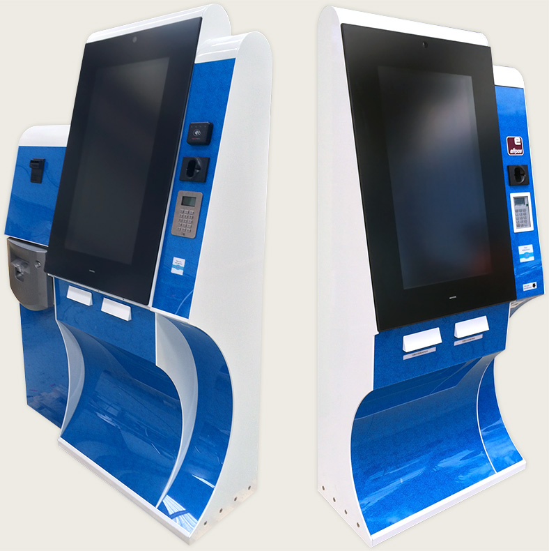 The two kinds of kiosks we designed and built for Wet'n'Wild Sydney